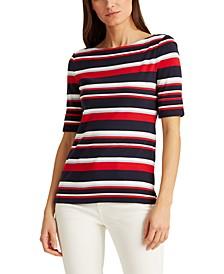 Petite Striped Cotton Top