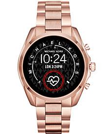 Michael Kors Access Gen 5 Bradshaw Rose Gold-Tone Stainless Steel Bracelet Touchscreen Smart Watch 44mm
