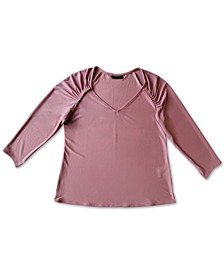 Ruched-Sleeve Top, Created for Macy's