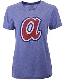 Atlanta Braves Women's Throwback Match Tri-blend Hero T-Shirt