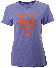 Women's New York Mets Throwback Match Tri-Blend Hero T-Shirt