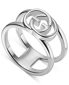 Interlocking G Motif Statement Ring in Sterling Silver