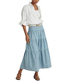 Lauren Ralph Lauren Pauldina Cotton Peasant Skirt