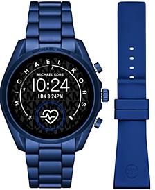 Access Unisex Gen 5 Bradshaw Blue Aluminum Bracelet & Blue Silicone Strap Touchscreen Smart Watch 44mm Gift Set