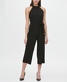 Halter-Neck Cropped Jumpsuit