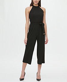 Tommy Hilfiger Halter-Neck Cropped Jumpsuit