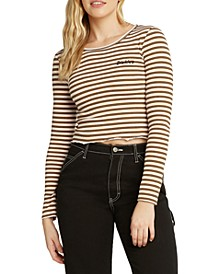 Striped Junior's Cropped Top