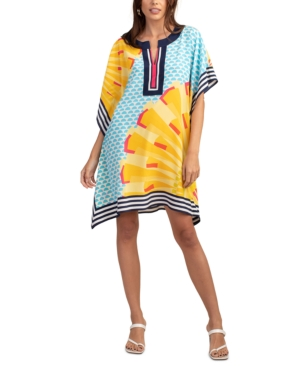 Trina Turk THEODORA ABSTRACT PRINT SILK DRESS