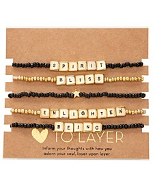 Gold-Tone 5-Pc. Set Enlighten Beaded Stretch Bracelets