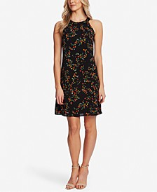 Blustery Buds A-Line Dress