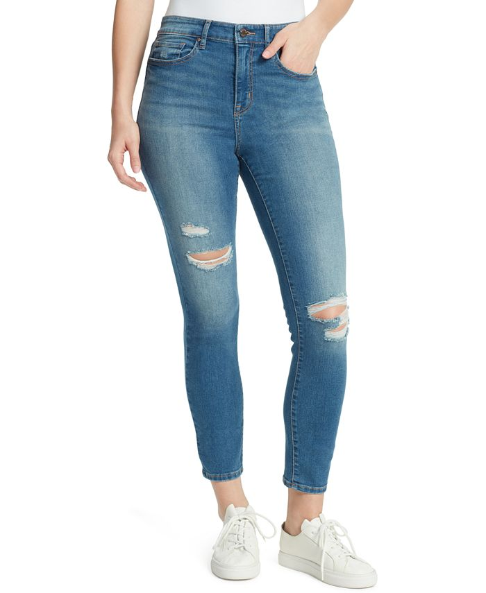 WILLIAM RAST - Distressed High-Rise Skinny Jeans