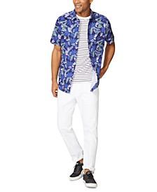 Men's Tropical Floral-Print Oxford Shirt