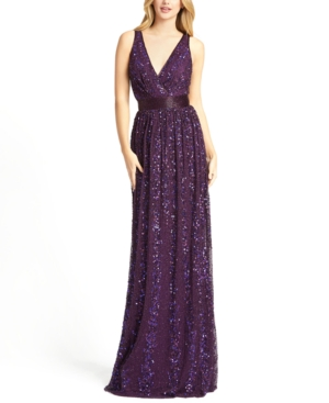 Mac Duggal EMBELLISHED SEQUIN GOWN