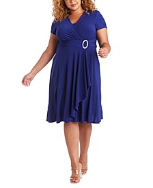 Plus Size Cascade Dress