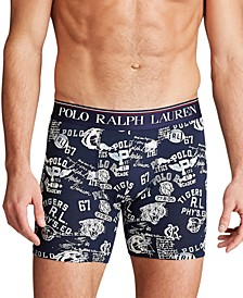 Men's Signature-Print Stretch Boxer Briefs