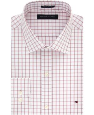 Tommy Hilfiger Men's Slim-Fit Check Dress Shirt