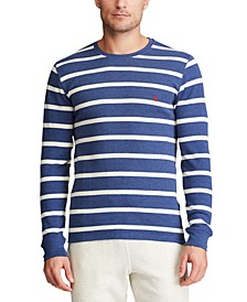 Men's Striped Waffle-Knit Pajama Shirt