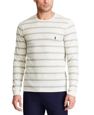 Polo Ralph Lauren Men's Striped Waffle-Knit Pajama Shirt