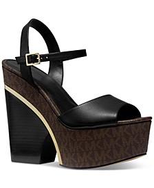Lana Signature Logo Platform Dress Sandals