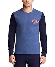 폴로 랄프로렌 파자마 셔츠 Polo Ralph Lauren Mens Polo Script Waffle Crewneck Pajama Shirt