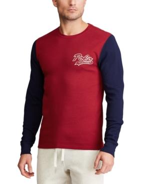 Polo Ralph Lauren Men's Script-Logo Waffled Pajama Shirt