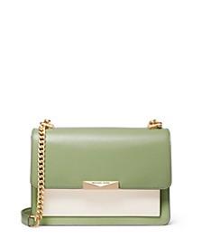 Jade Large Gusset Leather Shoulder Bag