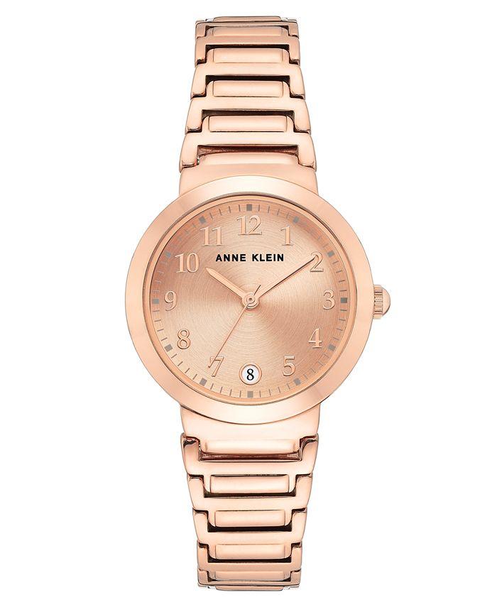 Anne Klein - Women's Rose Gold-Tone Bracelet Watch 32mm