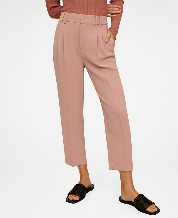 MANGO Darted Crepe Trousers