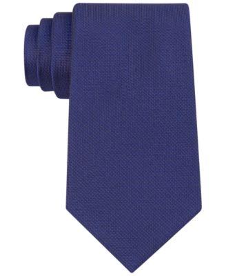 Silver Spun Solid Slim Tie