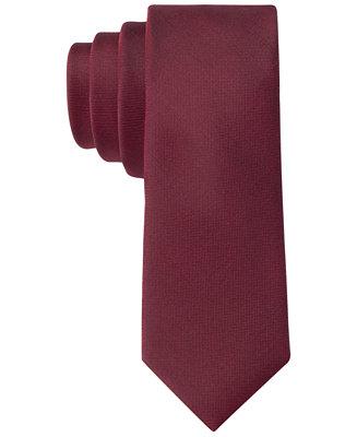 4f6d26df5c6b Calvin Klein X Liquid Luxe Skinny Solid Tie & Reviews - Ties & Pocket  Squares - Men - Macy's