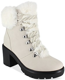 Ember Faux-Fur Lug Sole Booties