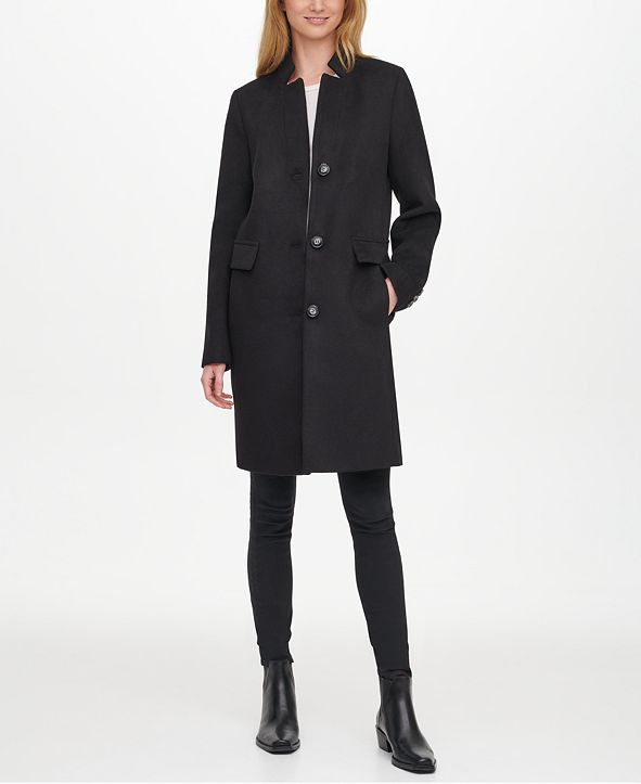DKNY Single-Breasted Walker Coat, Created for Macy's