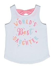 Toddler Girls Best Daughter Tank Top