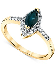 Sapphire (3/4 ct. t.w.) & Diamond (1/5 ct. t.w.) Ring in 14k Gold