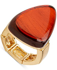 Gold-Tone Stone Stretch Ring, Created for Macy's