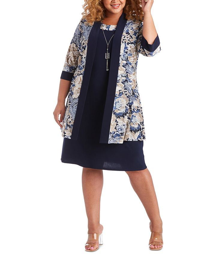 R & M Richards - Necklace Dress & Printed Jacket