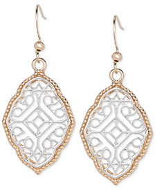 Two-Tone Filigree Drop Earrings, Created for Macy's
