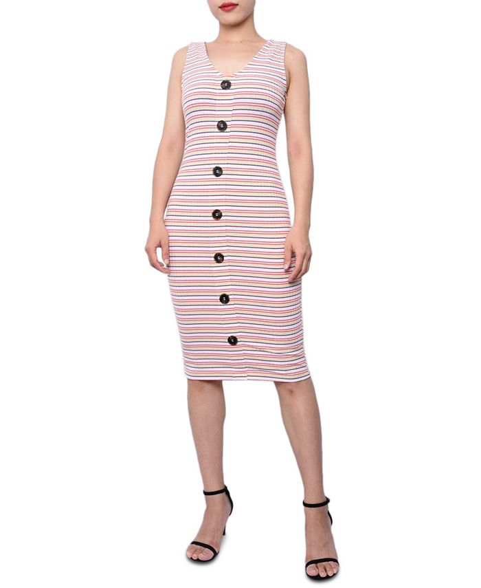 Planet Gold - Juniors' Ribbed Bodycon Dress