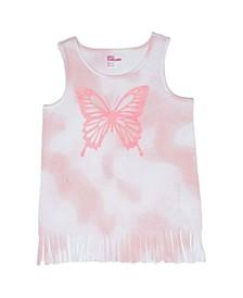Big Girls Butterfly Fringe Tee