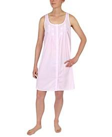 Striped Cotton Sleeveless Nightgown