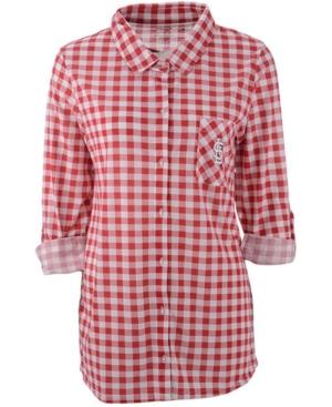 Concepts Sport Women's St. Louis Cardinals Wanderer Plaid Shirt