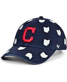 Cleveland Indians Women's Confetti Adjustable Cap