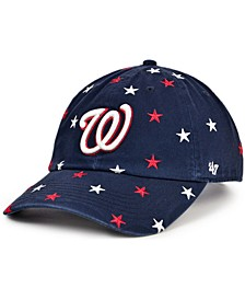 Women's Washington Nationals Confetti Adjustable Cap