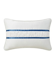"Lynne 12"" x 18"" Organza Ruffle Decorative Pillow"