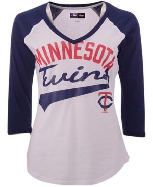 G-iii Sports Women's Minnesota Twins Its A Game Raglan T-Shirt
