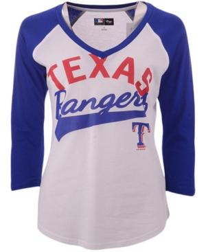G-iii Sports Women's Texas Rangers Its A Game Raglan T-Shirt