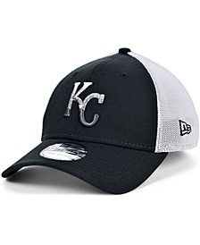 Men's Kansas City Royals Black White Gradient Trucker 39THIRTY Cap