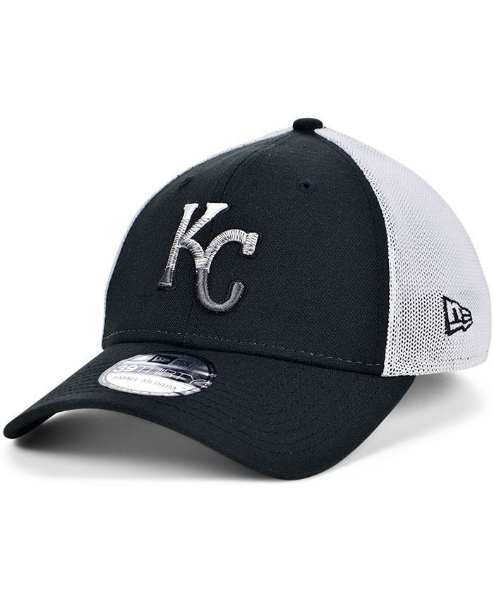 New Era - Men's Kansas City Royals Black White Gradient Trucker 39THIRTY Cap