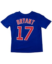 Toddler Chicago Cubs Name and Number Player T-Shirt Kris Bryant