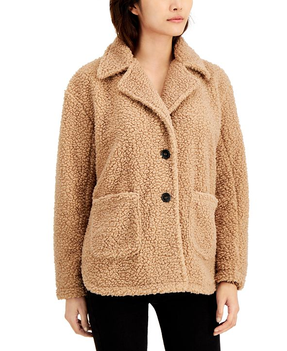 CoffeeShop Juniors' Faux-Fur Teddy Coat